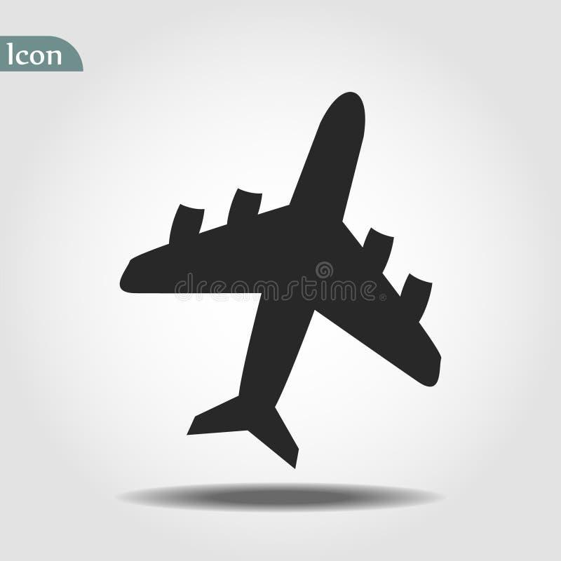 平面象 飞行运输标志,飞机,飞行airctaft,航空假期例证 旅行象坚实例证, 皇族释放例证