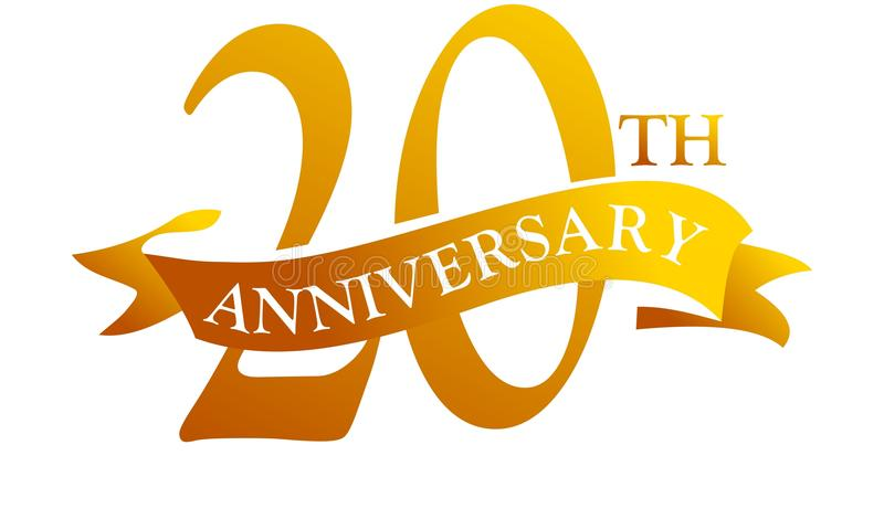 20年丝带周年 库存例证