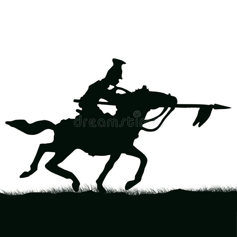 1800年克里米亚战争,英国骑兵骑马 原始插图 皇族释放例证