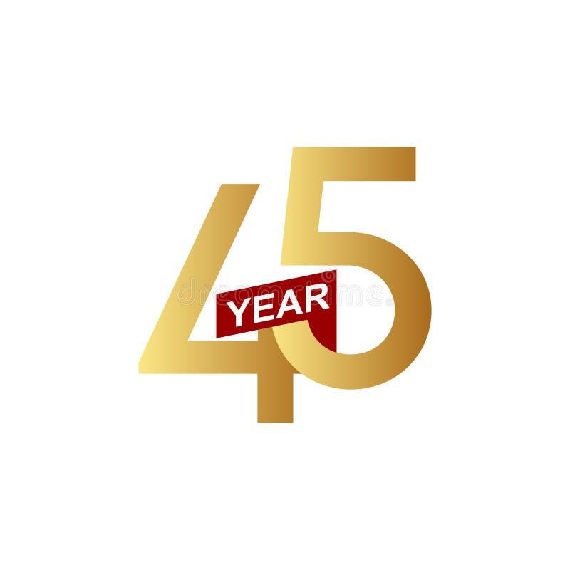 45年周年传染媒介模板设计例证 库存例证