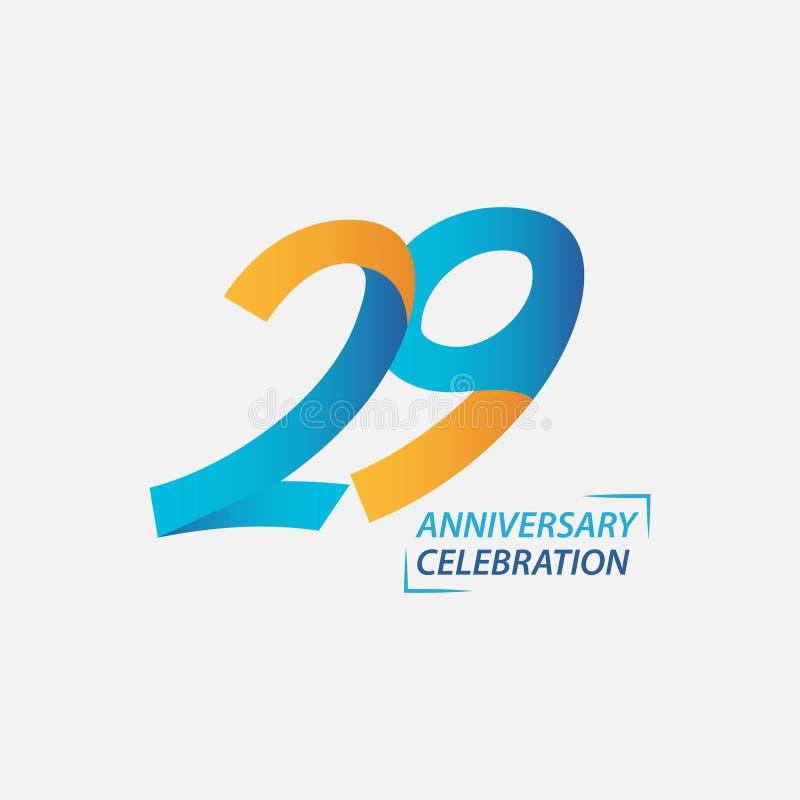 29年周年庆祝传染媒介模板设计例证 库存图片