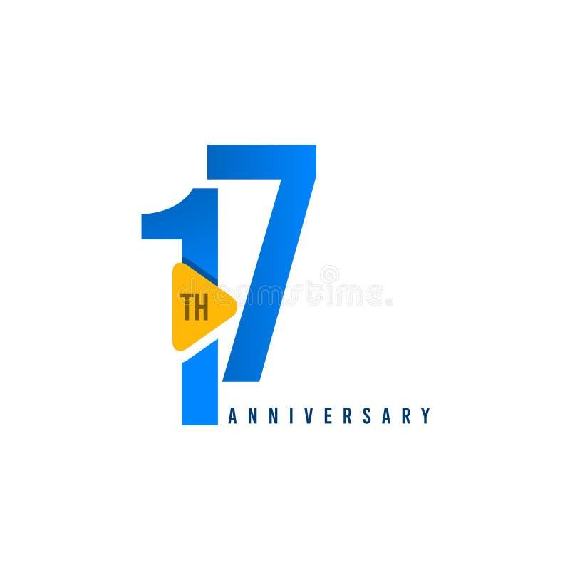 17年周年庆祝传染媒介模板设计例证 皇族释放例证