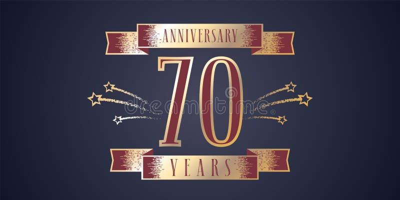 70年周年庆祝传染媒介象,商标 向量例证