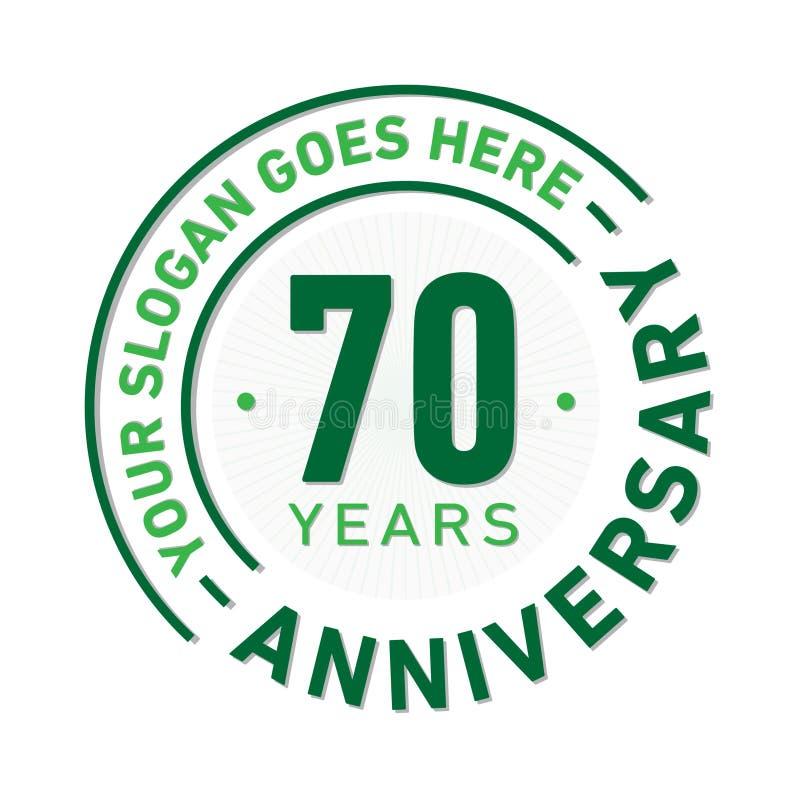 70年周年庆祝设计模板 周年传染媒介和例证 七十年商标 向量例证