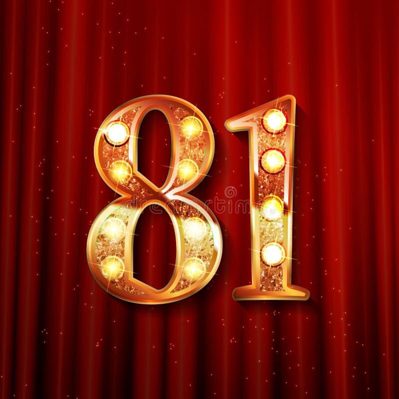 81年周年庆祝设计 向量例证