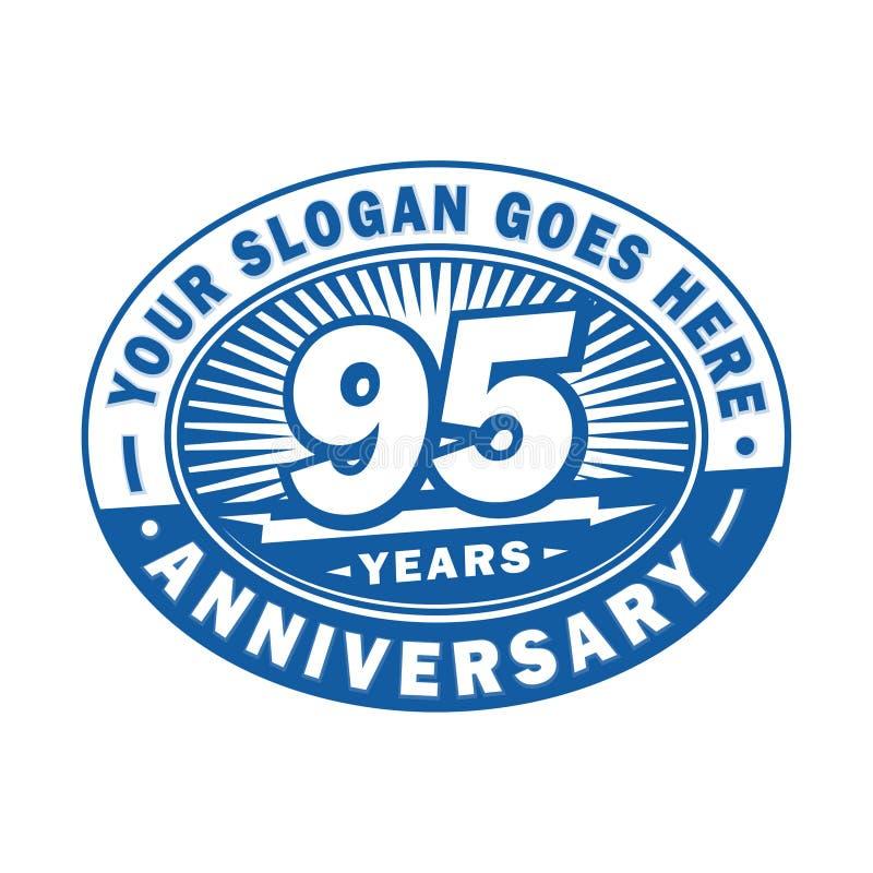 95年周年庆祝 第95个周年商标设计 九十五年商标 向量例证