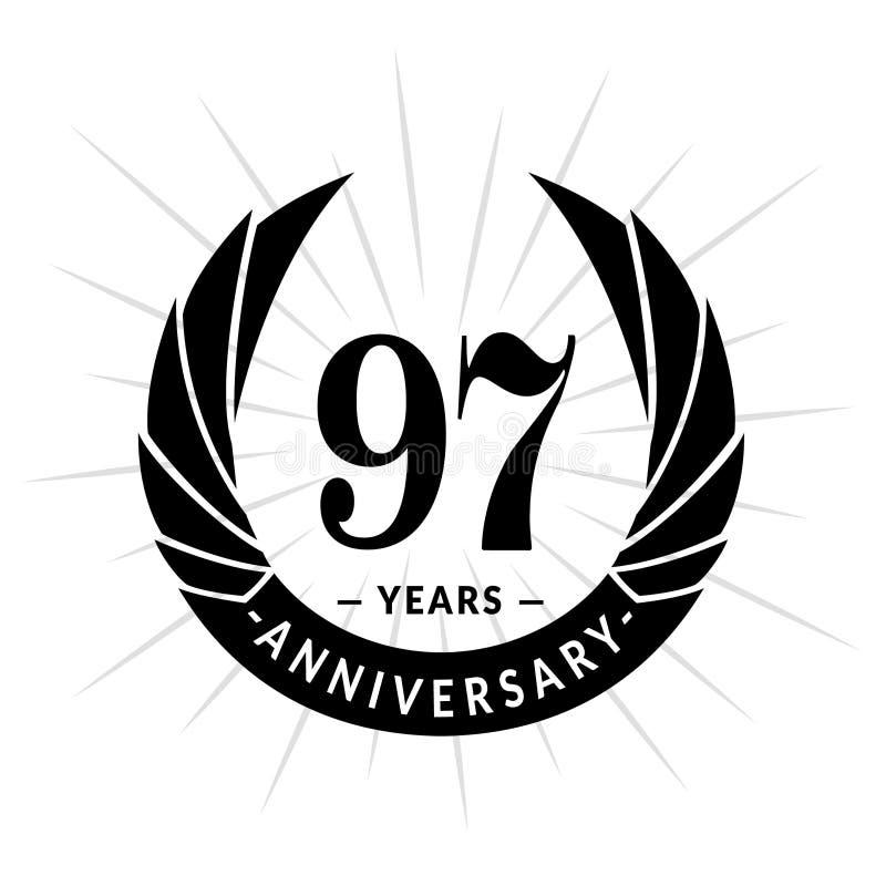 97年周年设计模板 典雅的周年商标设计 九十七年商标 皇族释放例证