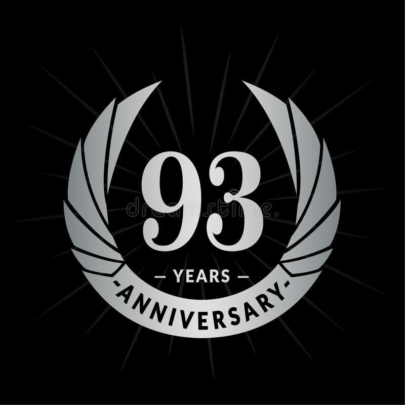 93年周年设计模板 典雅的周年商标设计 九十三年商标 皇族释放例证