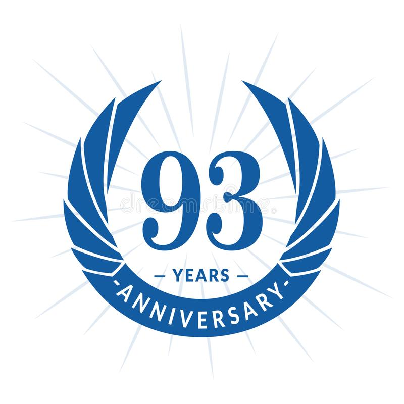 93年周年设计模板 典雅的周年商标设计 九十三年商标 库存例证