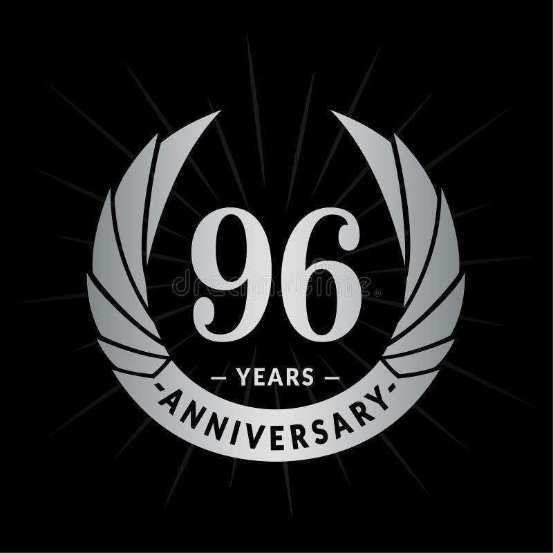 96年周年设计模板 典雅的周年商标设计 九十六年商标 皇族释放例证