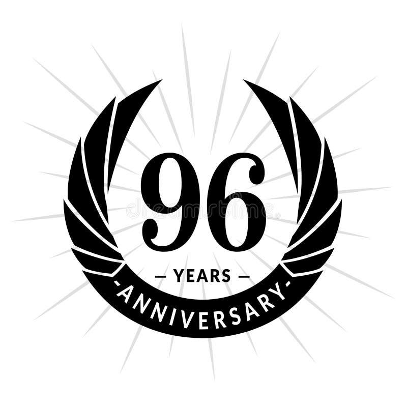 96年周年设计模板 典雅的周年商标设计 九十六年商标 库存例证