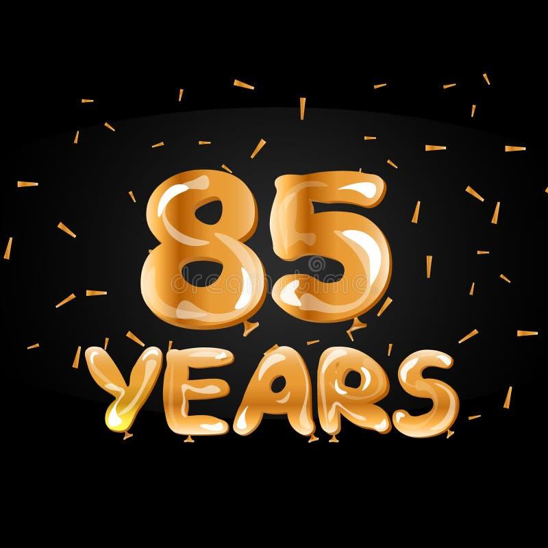 85年周年金子商标 库存例证