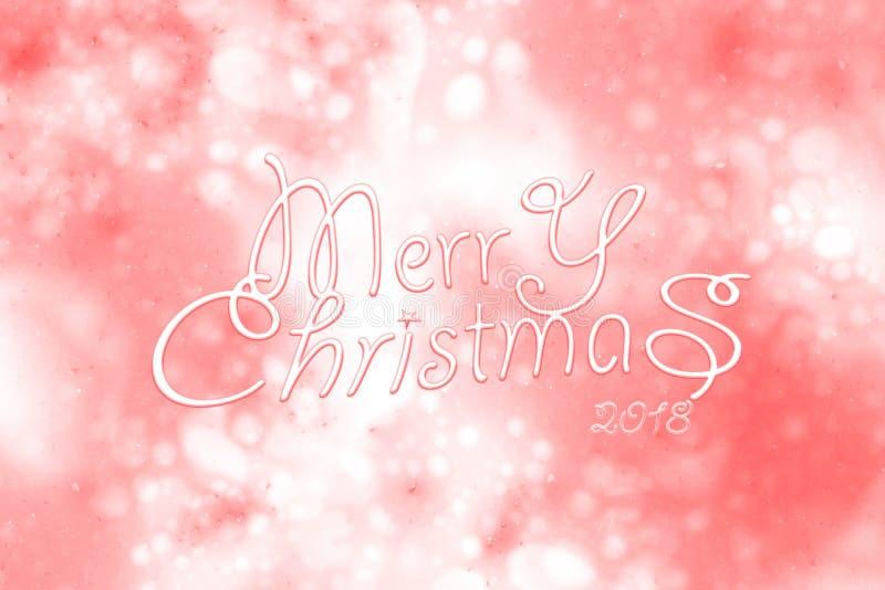 2018年圣诞快乐和新年快乐 免版税库存图片