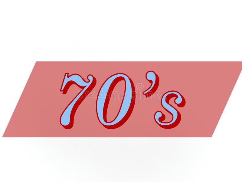 年在蓝色的70s 库存照片