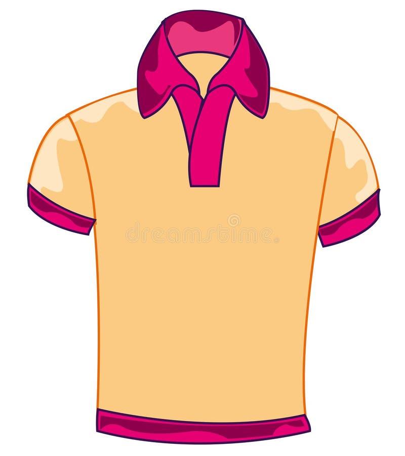 年布料衬衣 库存例证