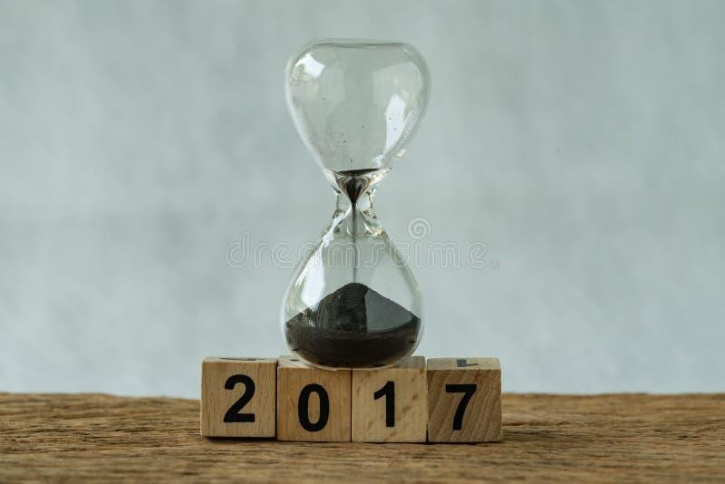 年底2017年企业时间浓缩读秒或改善的回顾 免版税库存照片