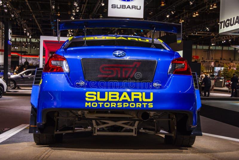 2019年斯巴鲁WRX STI VT19x Rallycross Supercar 库存照片