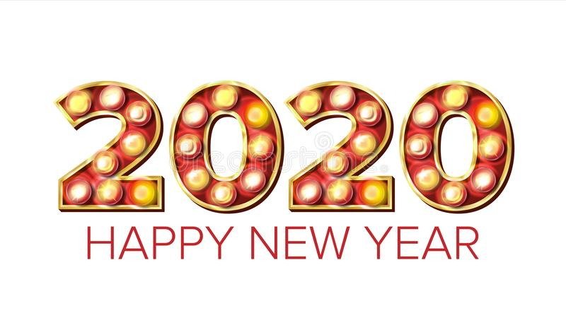 2020年新年快乐传染媒介 大门罩轻的背景装饰 贺卡设计 2020轻的标志图片