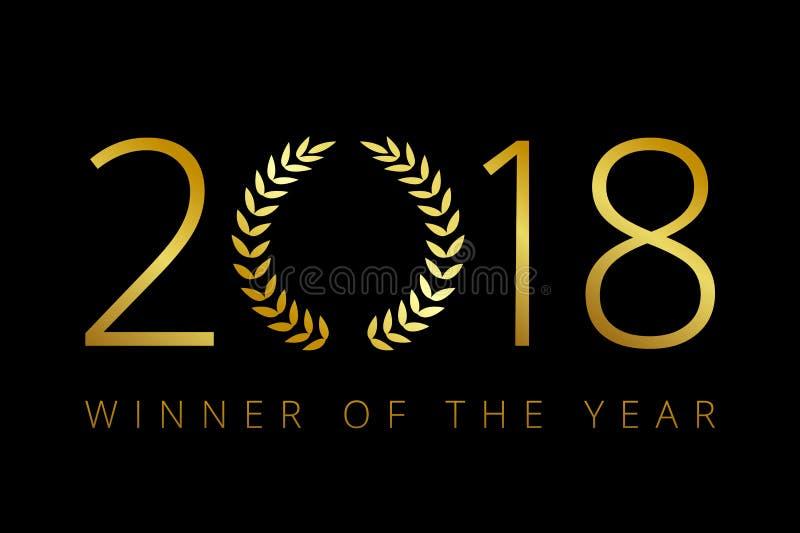 2018年新年快乐,与被构筑的棕榈的快活的xmas问候 库存例证