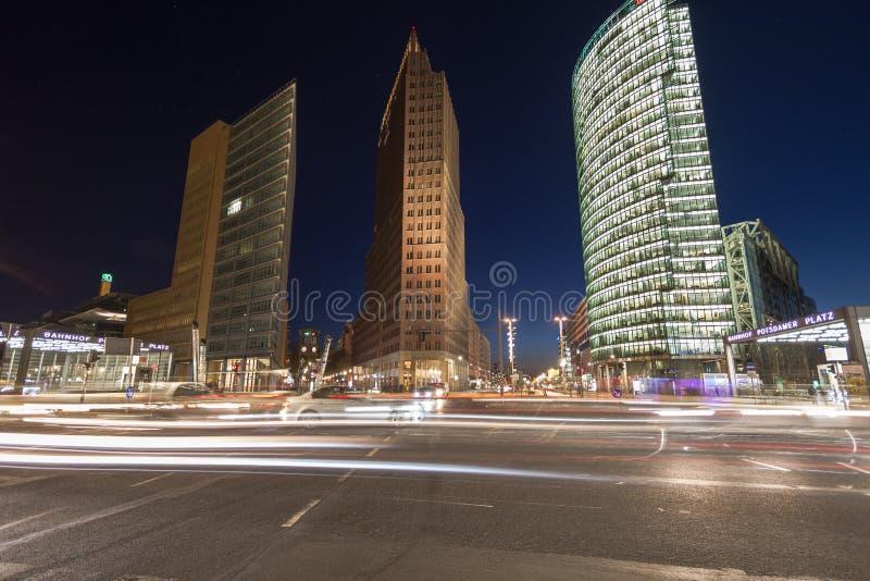 9 10 2016年柏林,德国-财政区的地平线有波茨坦广场的在柏林,德国 免版税库存图片