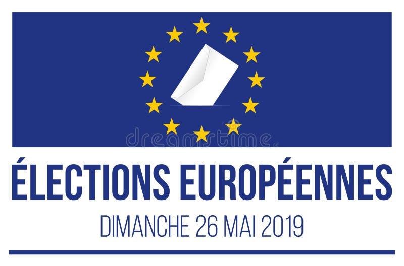 2019年欧洲议会竞选 库存例证