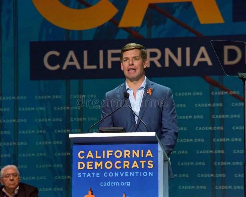 2019年民主党全国代表大会,旧金山,加利福尼亚 库存图片