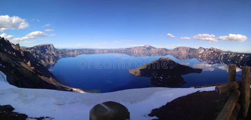 2008年火山口湖俄勒冈美国 免版税库存照片