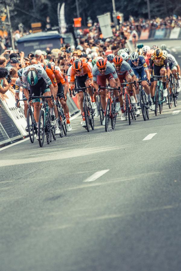 2019年环法自行车赛 免版税图库摄影
