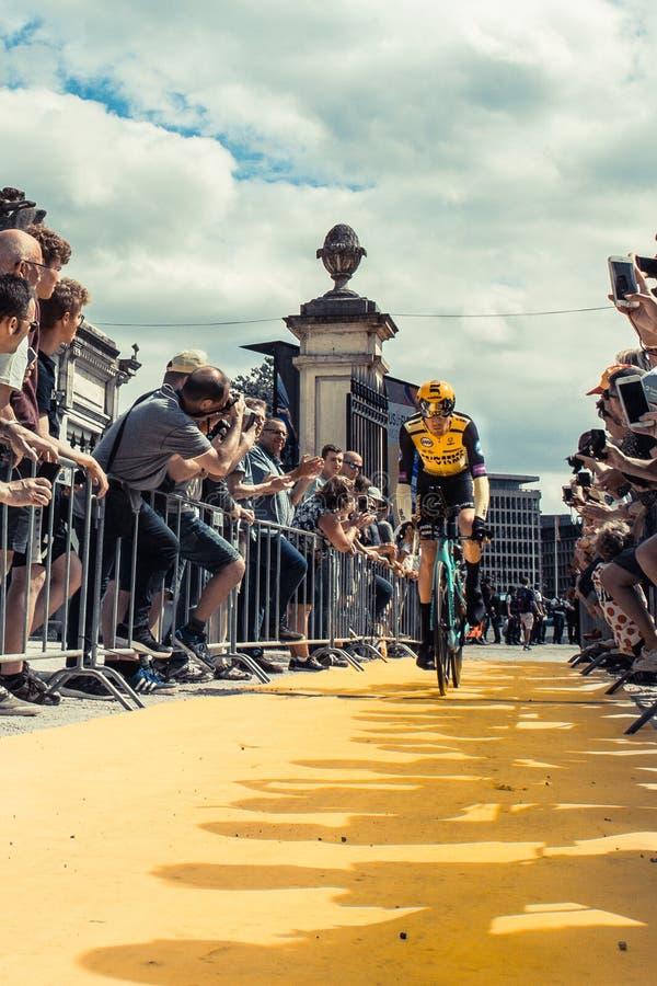 2019年环法自行车赛 库存图片