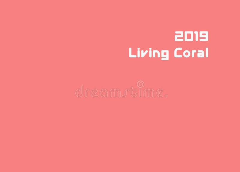 年的颜色2019年:居住的珊瑚 色的多孔橡胶纹理  春天夏天的时兴的pantone颜色2019年 皇族释放例证