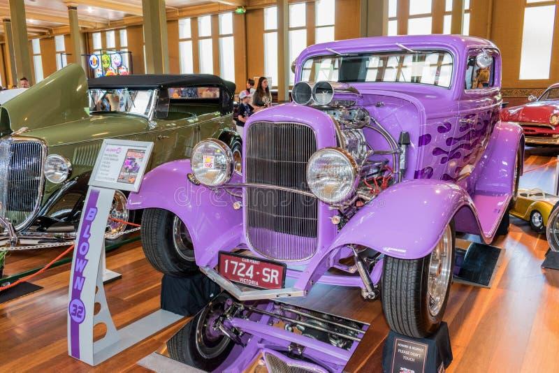 1932年福特旧车改装的高速马力汽车汽车 库存图片