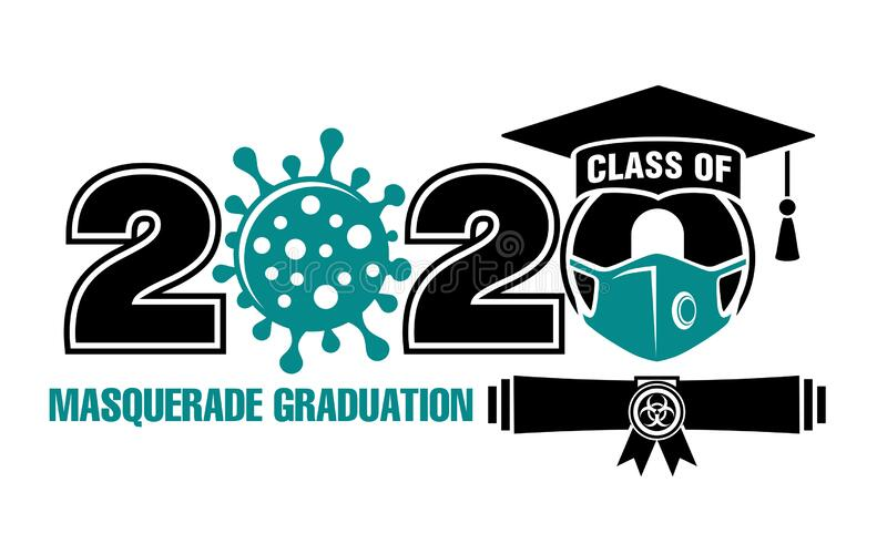 2020年级极端假装毕业 向量例证