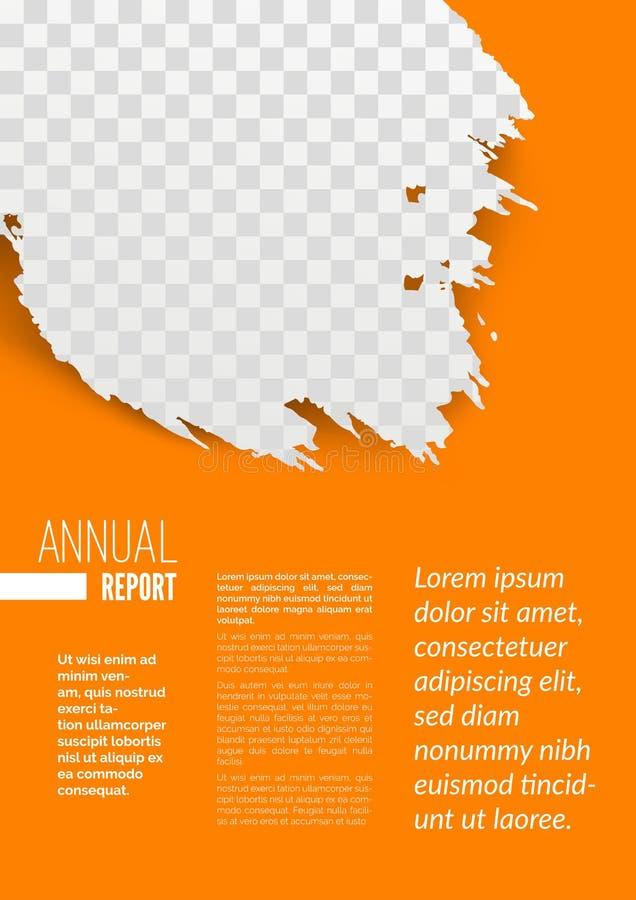 年终报告样页设计大模型 库存例证