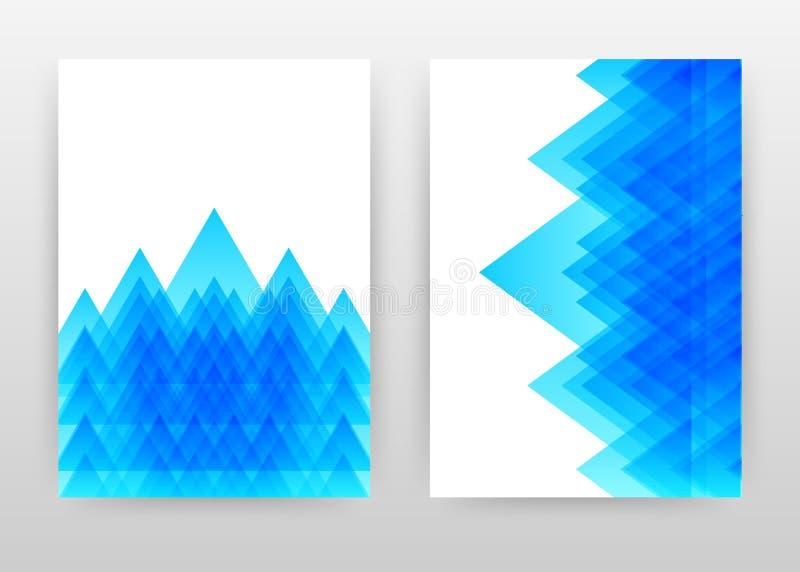 年终报告的,小册子,飞行物,海报几何蓝色三角业务设计 几何蓝色抽象背景传染媒介 库存例证