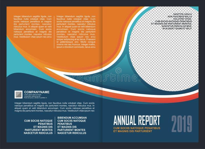 年终报告盖子模板设计 皇族释放例证
