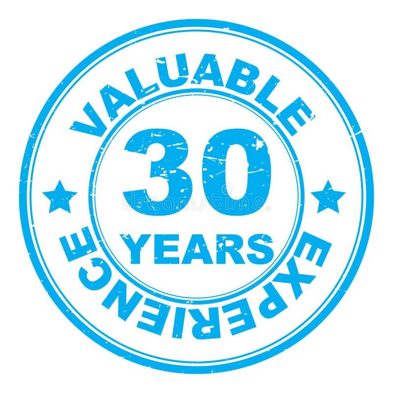 30年被说明的邮票 皇族释放例证