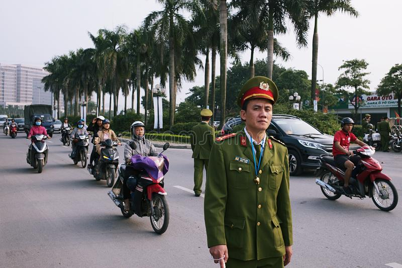 2017年越南亚太经合山顶 库存图片