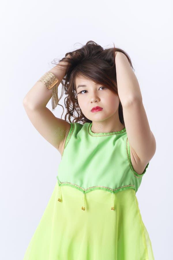 年轻亚洲女孩画象 免版税图库摄影