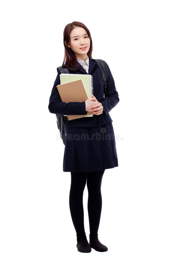 年轻人相当亚裔学员 免版税库存图片