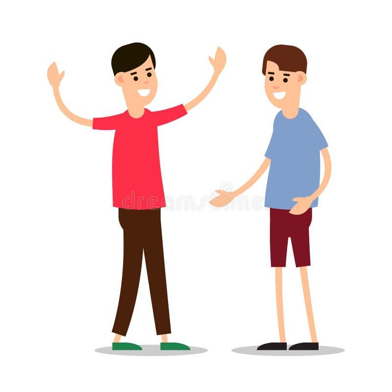 年轻人身分和互相招呼 照相机组查出查找关于常设工作室空白年轻人的人 库存例证