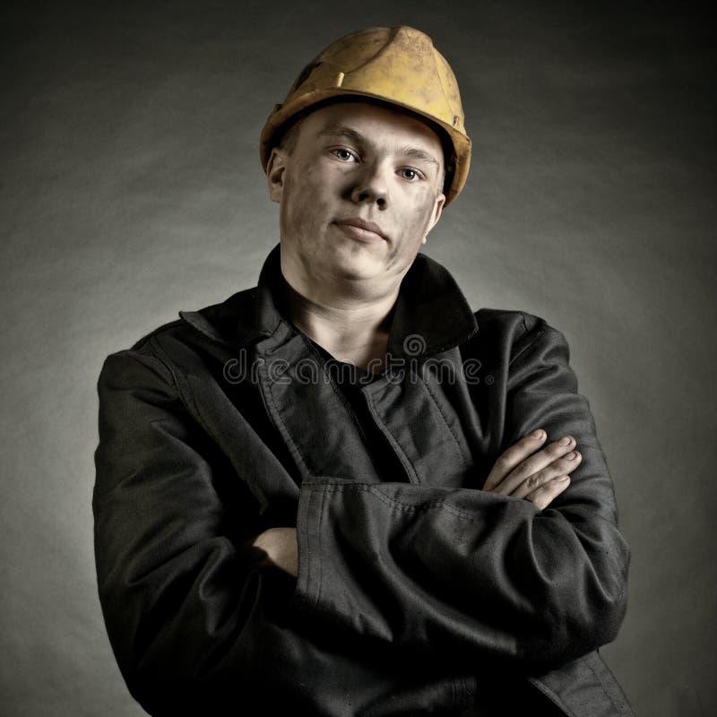 年轻工人 免版税库存图片