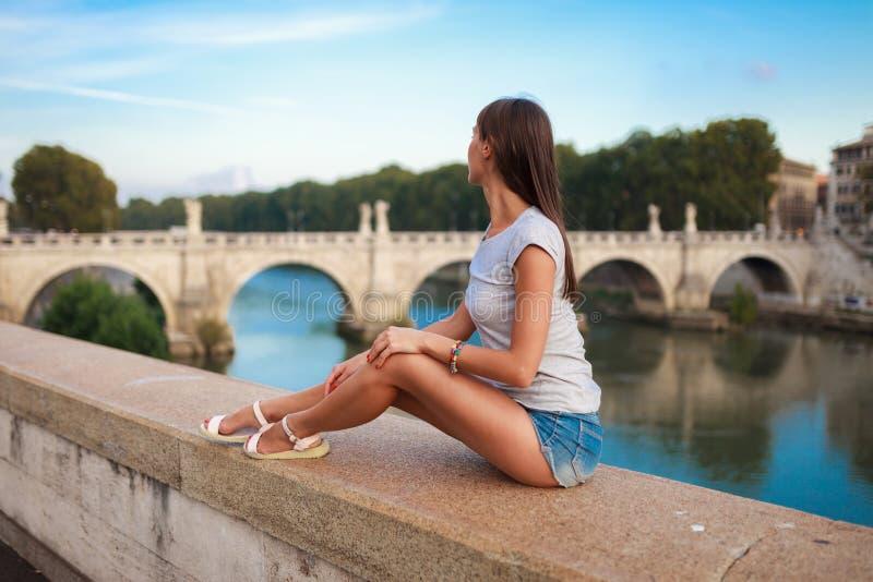 E 近天使桥梁和城堡  圣徒安吉洛 免版税库存照片