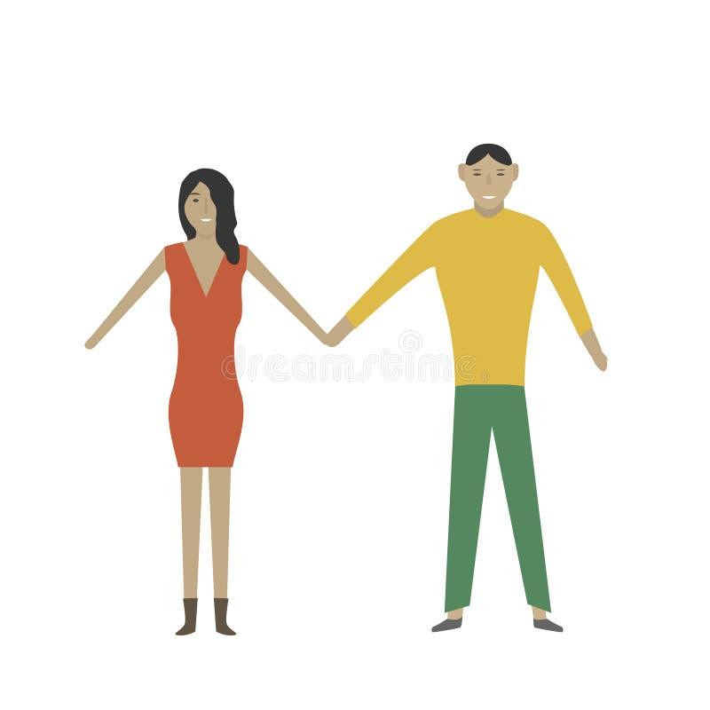 年轻爱恋的夫妇 向量例证