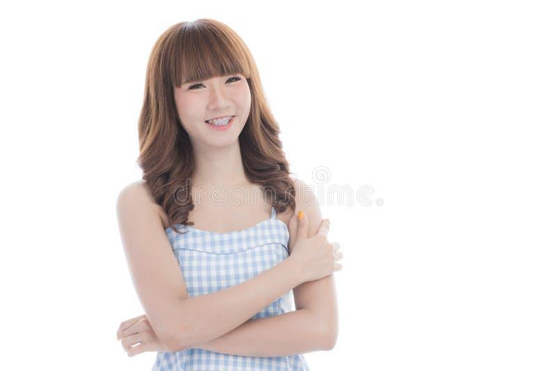 年轻美丽的亚裔妇女画象  免版税库存照片