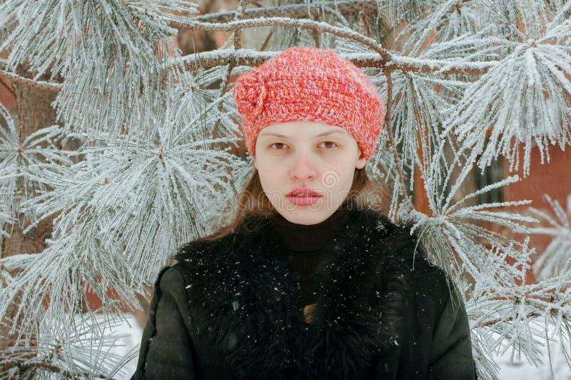 年轻美丽的女孩显示她的年轻身体的摄影师零件 E 图库摄影
