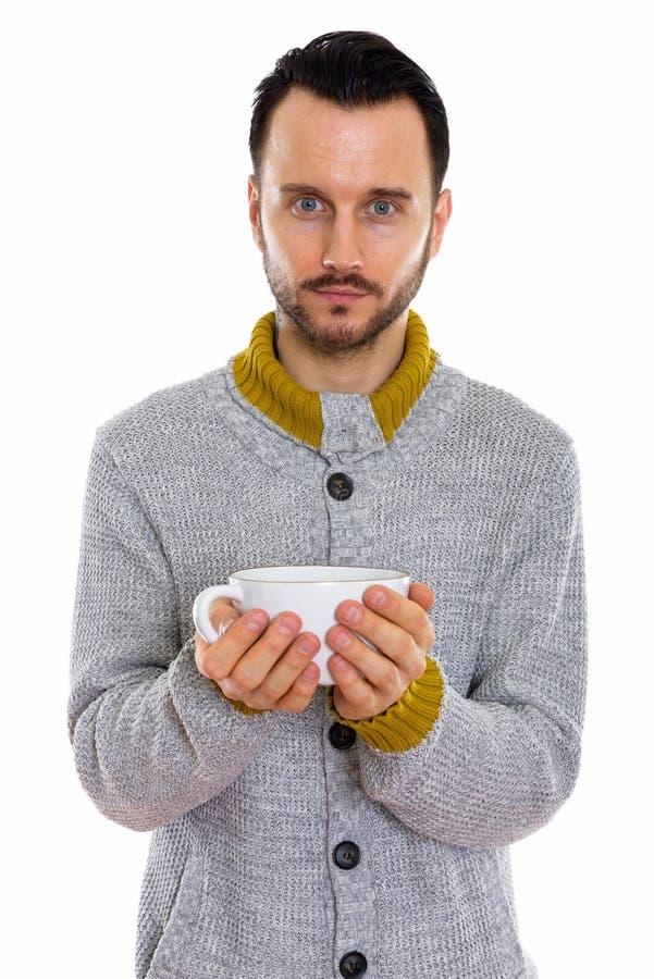 年轻英俊的有胡子的人 免版税库存图片