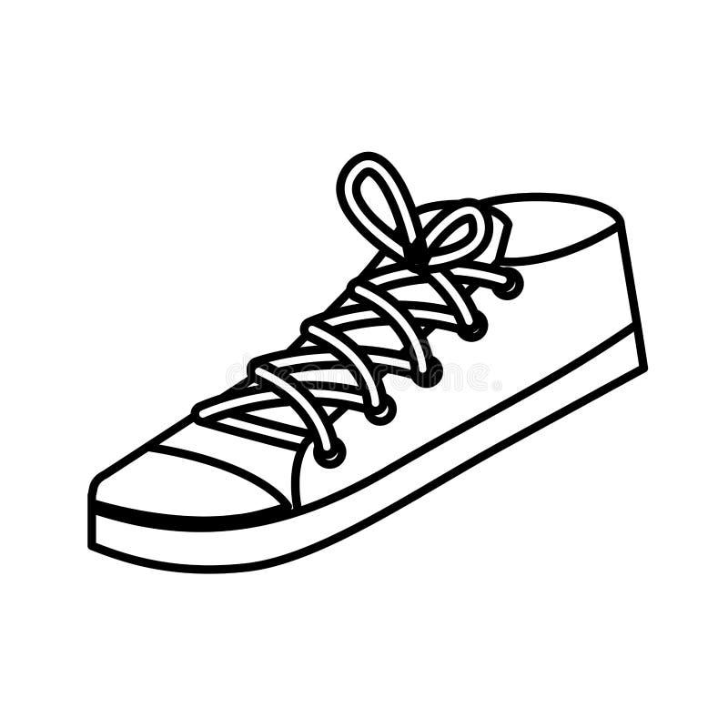 年轻运动鞋象 向量例证