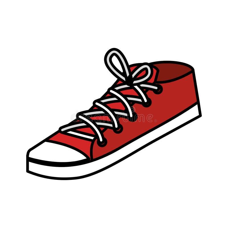 年轻运动鞋象 库存例证