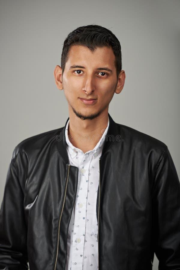 年轻阿拉伯人画象  库存照片