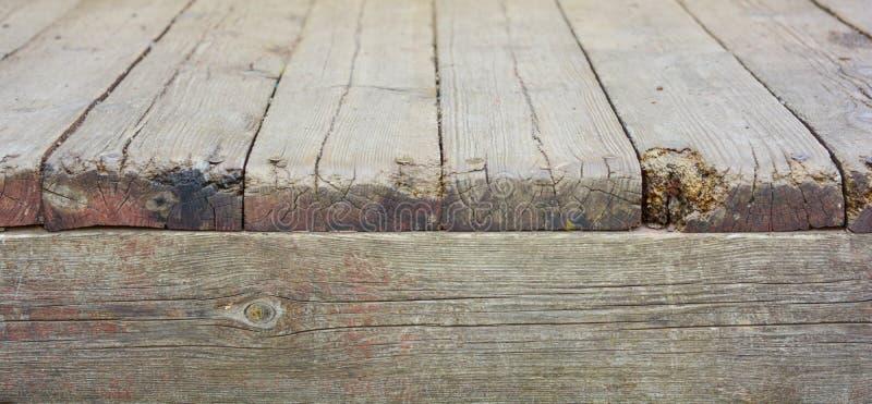 年迈的木地板和木墙壁 困厄的表面 库存照片